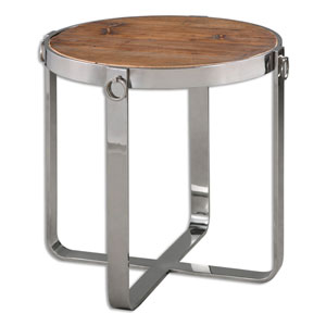 Berdine Reclaimed Fir Wood Side Table