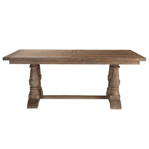 Stratford Stony Gray Wash Salvaged Wood Dining Table