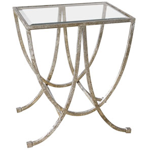 Marta Antique Silver Side Table