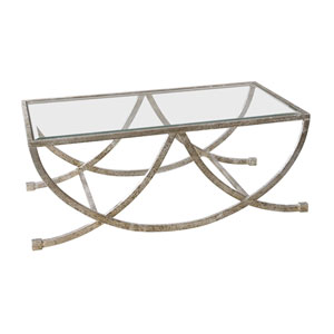 Marta Antique Silver Coffee Table