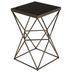 Uberto Antique Bronze Accent Table
