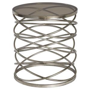 Marella Antique Silver Accent Table