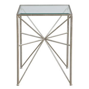 Silvana Antique Silver Side Table