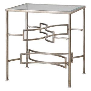 Eilinora Antique Silver End Table