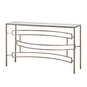 Eilinora Antique Silver Console Table