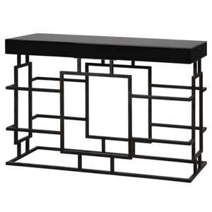 Andy Worn Black Console Table