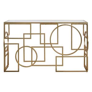 Metria Gold Console Table