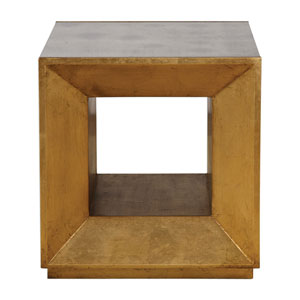 Flair Gold Cube Table