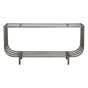 Arlice Bright Silver Console Table