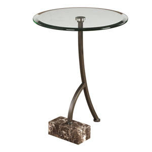 Levi Round Bronze Accent Table