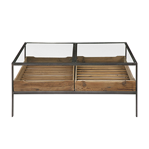 Silas Reclaimed Pine and Aged Steel Coffee Table