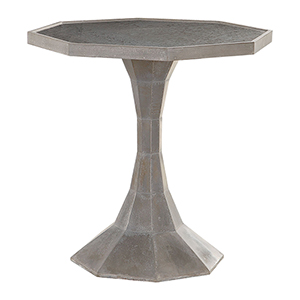Aharon Rustic Burnished Patina Octagonal Lamp Table