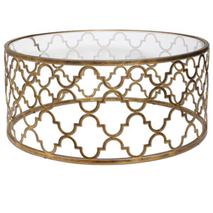 Quatrefoil Gold Coffee Table