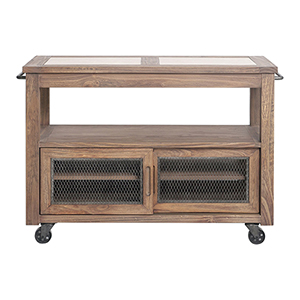Wallace Rustic Honey Kitchen Island