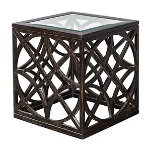 Janeva Dark Ash Accent Table