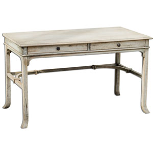 Bridgely Aged White 30-Inch Writing Desk