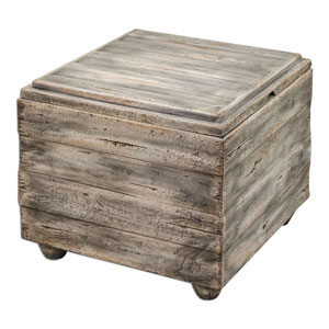Avner Waxed Driftwood 20-Inch Cube Table