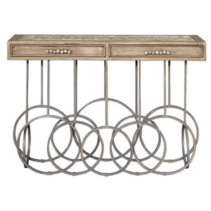 Silana Stone Mosaic Console Table