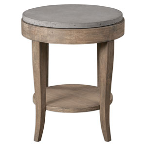 Deka Brown Round Accent Table