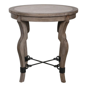 Blanche Travertine Lamp Table
