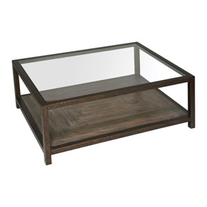 Carter Bronze and Glass Coffee Table