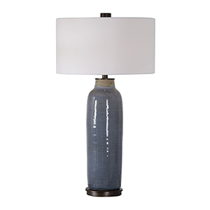 Vicente Slate Blue One-Light Table Lamp
