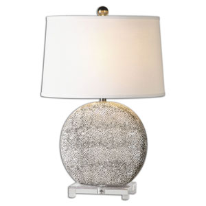 Albinus Aged Ivory and Bronze One Light Table Lamp