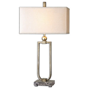 Osmund Burnished Antique Silver One Light Table Lamp