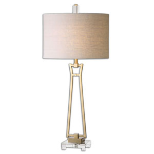 Leonidas Brushed Antiqued Gold One Light Table Lamp