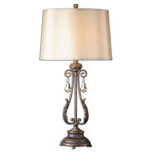 Cassia Distressed Oil Rubbed Bronze One Light Table Lamp