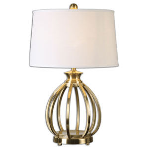 Decimus Brushed Brass One Light Table Lamp