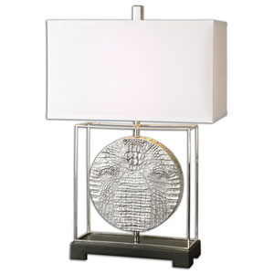 Taratoare Polished Nickel One-Light Table Lamp