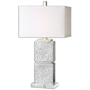 Eumelia Silver One-Light Table Lamp