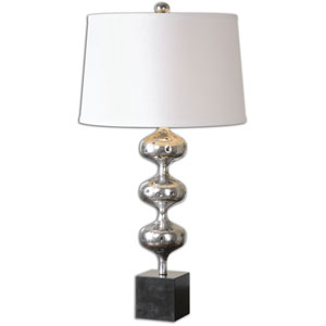 Cloelia Polished Silver One-Light Table Lamp