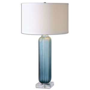 Caudina Frosted Blue One-Light Table Lamp