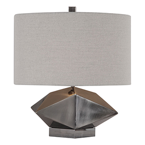 Ignacio Antique Brushed Nickel One-Light Table Lamp