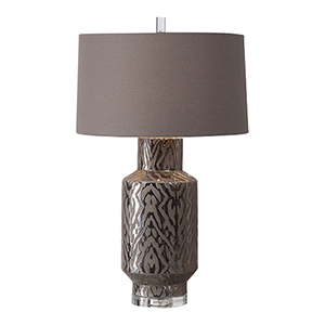 Zelda Metallic Bronze One-Light Table Lamp