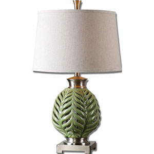 Flowing Fern Lime Green One-Light Table Lamp