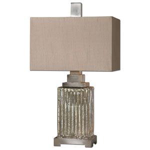 Canino Brushed Aluminum One-Light Mercury Glass Table Lamp