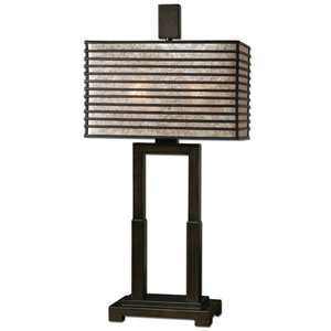 Becton Oil Rubbed Bronze Two-Light Table Lamp