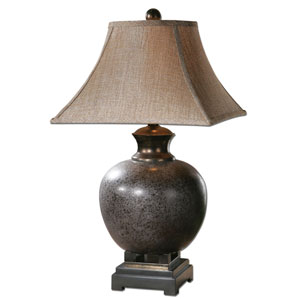Villaga Black and Brown One-Light Table Lamp