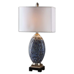 Latah Silver Champagne Latah One-Light Table Lamp