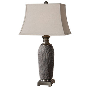 Tricarico Ceramic One-Light Textured Table Lamp