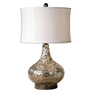 Vizzini Crackled Polished Chrome One-Light Table Lamp