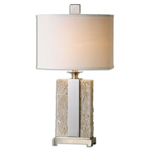 Bonea Stone Ivory One-Light Table Lamp