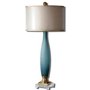 Alaia Brushed Brass Two-Light Table Lamp