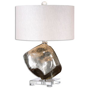 Everly Metallic Silver One-Light Table Lamp
