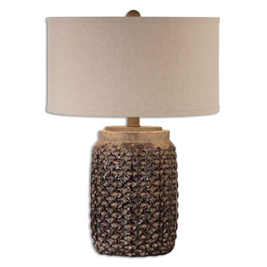 Bucciano Rust Brown One-Light Table Lamp