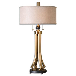 Selvino Brushed Brass Two-Light Table Lamp