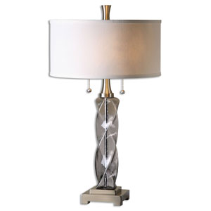 Spirano Smoke Gray Two-Light Table Lamp